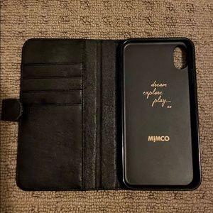 black flip mimco phone case iphone XSmax